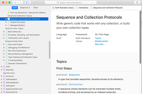 Sequence and Collection Protocols